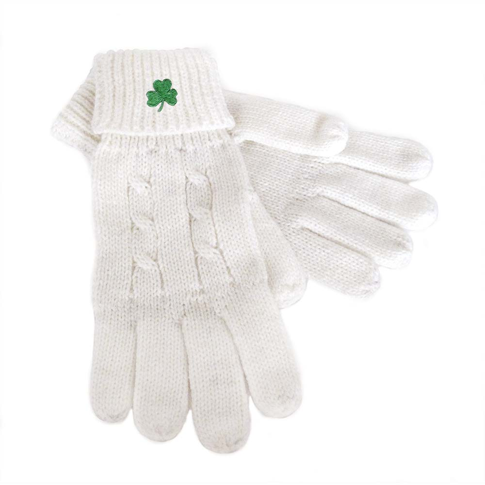 Cable Knit Gloves - Large
